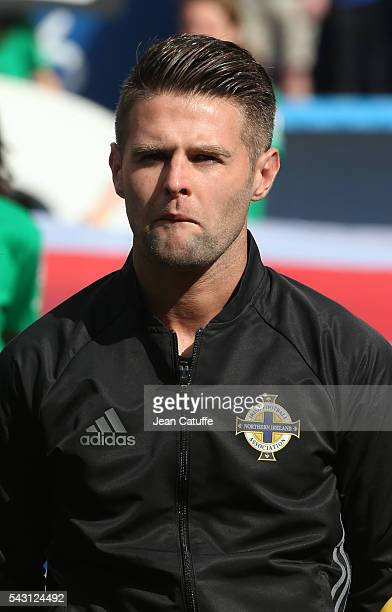 Oliver Norwood of Northern Ireland looks on before the UEFA EURO 2016 round of 16 match between Wales and Northern Ireland at Parc des Princes on...