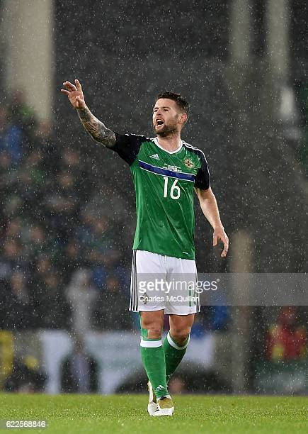 Oliver Norwood of Northern Ireland pictured during the FIFA 2018 World Cup Qualifier between Northern Ireland and Azerbaijan at Windsor Park on...