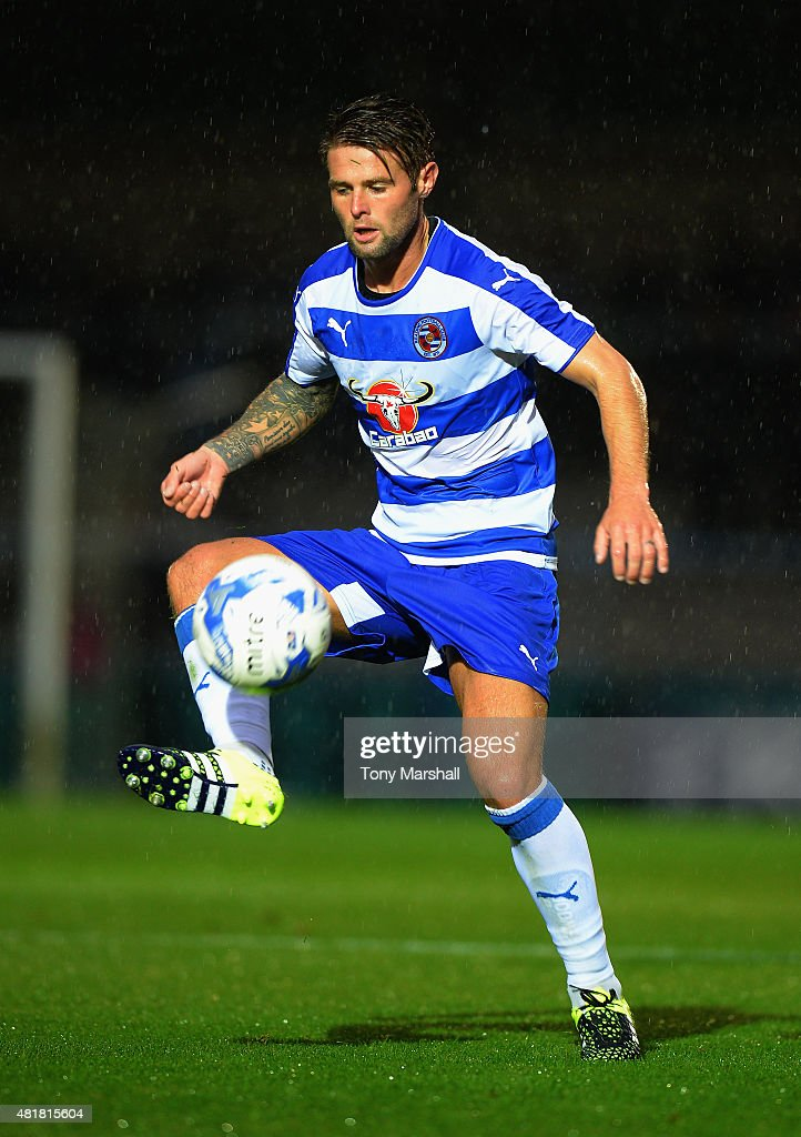 Oliver Norwood of Reading during the Pre Season Friendly match between Reading and Swansea City at Adams Park on July 24, 2015 in High Wycombe, England.
