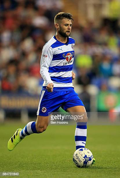 Oliver Norwood of Reading in action during the pre season friendly match between Reading and AFC Bournemouth at Madejski Stadium on July 29 2016 in...