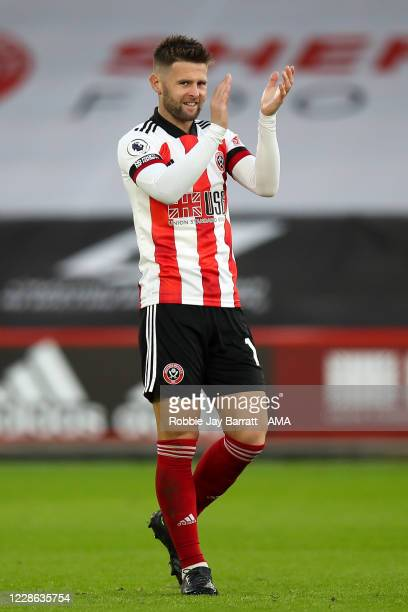 Oliver Norwood of Sheffield United during the Premier League match between Sheffield United and Wolverhampton Wanderers at Bramall Lane on September...