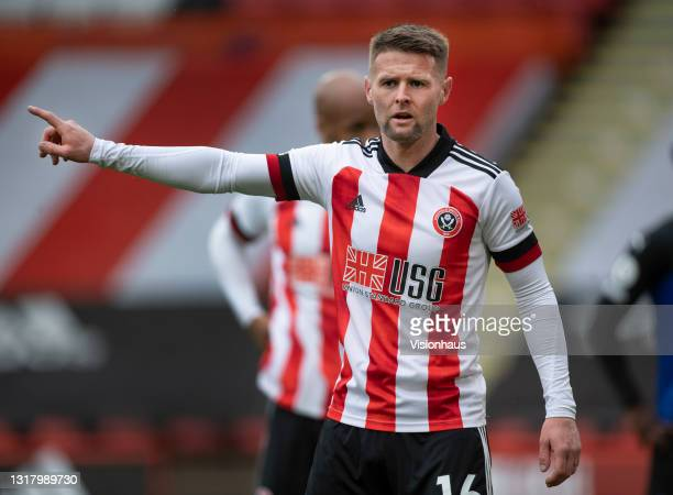 Oliver Norwood of Sheffield United during the Premier League match between Sheffield United and Crystal Palace at Bramall Lane on May 8, 2021 in...