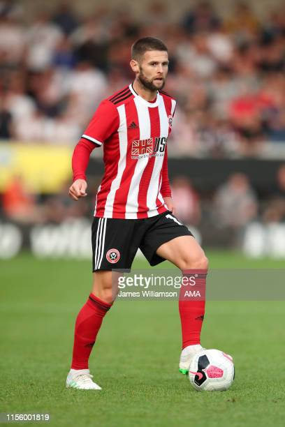 Oliver Norwood of Sheffield United during the Pre-Season Friendly match between Burton Albion and Sheffield United at Pirelli Stadium on July 16,...