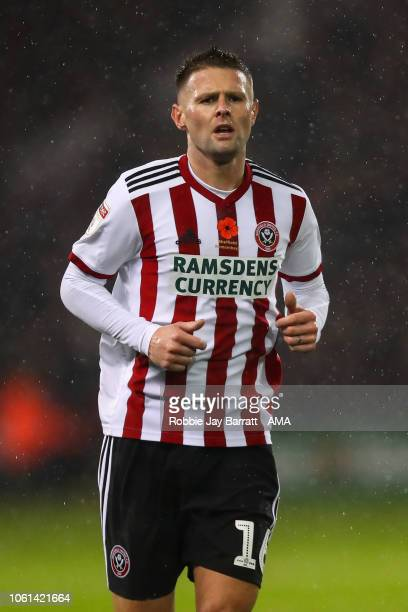 Oliver Norwood of Sheffield United during the Sky Bet Championship match between Sheffield United and Sheffield Wednesday at Bramall Lane on November...
