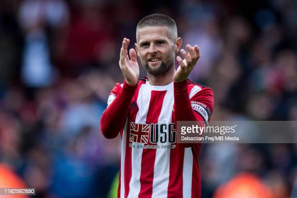 Oliver Norwood of Sheffield United reaction during the Premier League match between Sheffield United and Crystal Palace at Bramall Lane on August 18,...