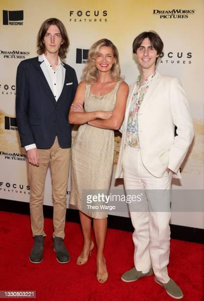 "Oliver Orion Ocasek, Paulina Porizkova , and Jonathan Raven Ocasek attend the ""Stillwater"" New York Premiere at Rose Theater, Jazz at Lincoln Center..."