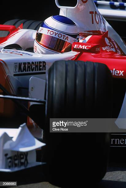 Oliver Panis of France and Toyota in action during the Monaco Formula One Grand Prix held on June 1 2003 in Monte Carlo Monaco