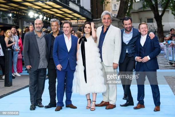 Oliver Parker Robert Graves Rob Brydon Charlotte Riley Jim Carter Daniel Mays and Thomas Turgoose attend the 'Swimming With Men' UK Premiere at The...