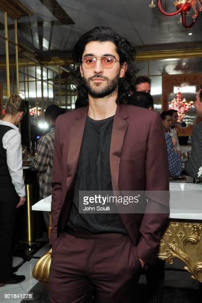 Oliver Peoples Creative Director Giampiero Tagliaferri attends GQ and Oliver Peoples Celebrate Timothee Chalamet March Cover Dinner at Nomad Los...