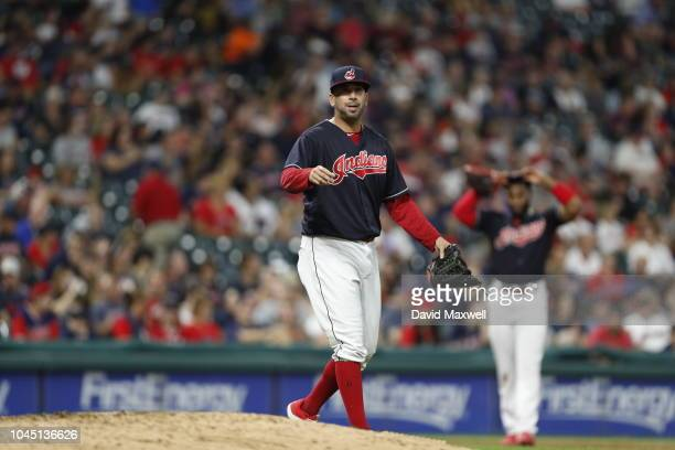 Oliver Perez of the Cleveland Indians pitches against the Chicago White Sox in the sixth inning at Progressive Field on September 20 2018 in...