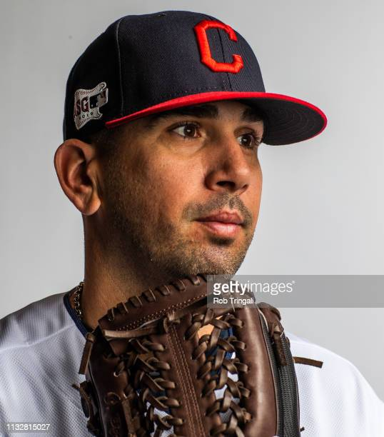 Oliver Perez of the Cleveland Indians poses for a portrait at the Cleveland Indians Player Development Complex on February 21 2019 in Goodyear Arizona