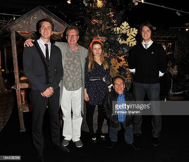 Oliver Phelps Mark Williams Jessie Cave Warwick Davis and James Phelps promote the DVD 'Harry Potter And The Deathly Hallows Part 2' at Harrods on...