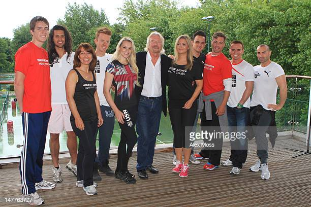 Oliver Phelps Ollie Locke Kay Burley James Barr Amy Guy Richard Branson Hayley McQueen Gareth Gates Matt Evers Jon Lee and Louie Spence attend a...