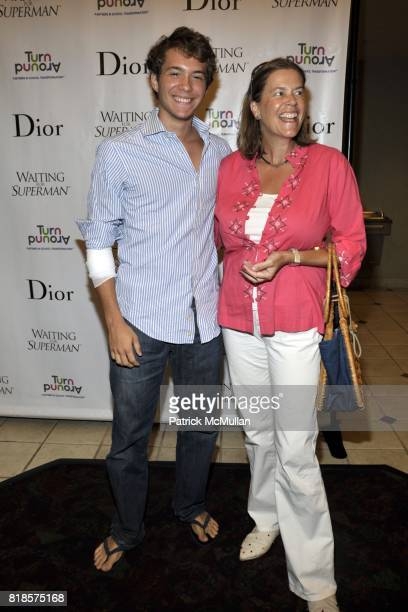 Oliver Platero and Ariadne CalvoPlatero attend WAITING FOR SUPERMAN Screening and Dinner at UA Southampton and Private Residence on August 29 2010 in...
