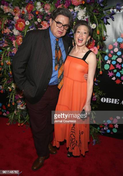Oliver Platt and Carrie Coon attend the The 63rd Annual Obie Awards at Terminal 5 on May 21 2018 in New York City