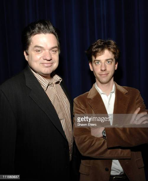 Oliver Platt and Christian Borle during MCC Benefit at the Circle in the Square Theatre in New York City December 5 2005 at Circle in the Square...