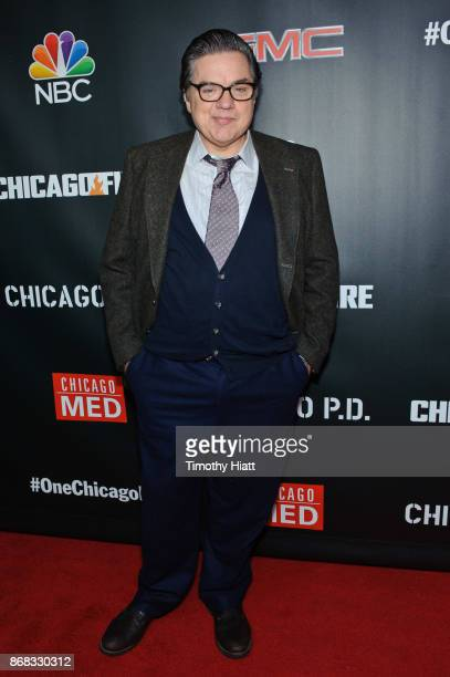 Oliver Platt attends the press junket for One Chicago on October 30 2017 in Chicago Illinois