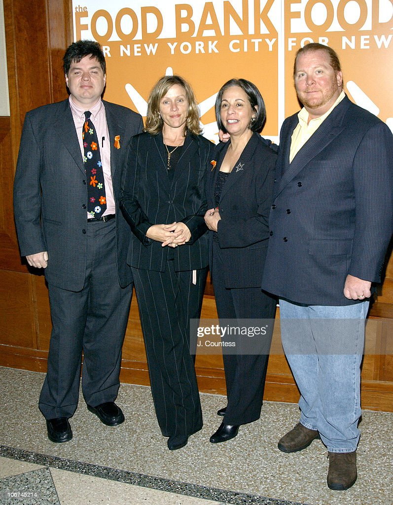 Oliver Platt, Frances McDormand, Dr. Lucy Cabrera, President and CEO of The Food Bank For New York City and Mario Batali, Celebrity Chef