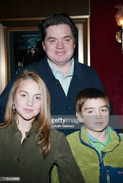 Oliver Platt Lily Platt George Platt during NYC premiere of Harry Potter and the Goblet of Fire at Ziegfeld Theater in New York New York United States