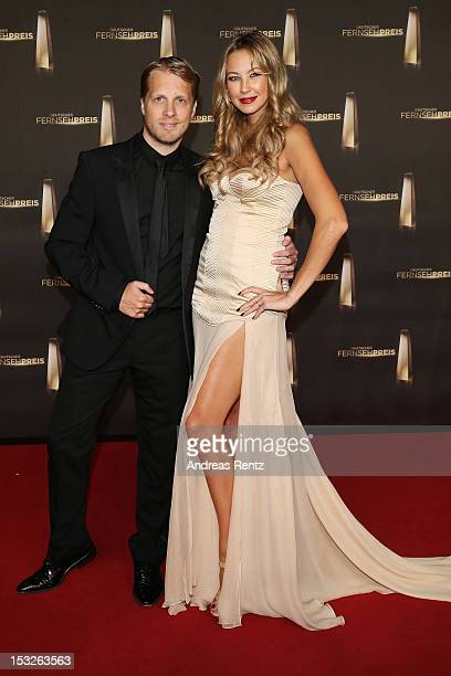 Oliver Pocher and Alessandra Pocher arrive for the German TV Award 2012 at Coloneum on October 2 2012 in Cologne Germany