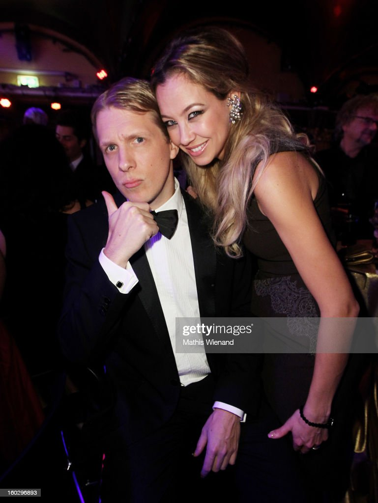 Oliver Pocher and Alessandra Pocher attend the Lambertz Monday Night at Alter Wartesaal on January 28, 2013 in Cologne, Germany.