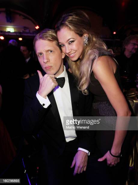 Oliver Pocher and Alessandra Pocher attend the Lambertz Monday Night at Alter Wartesaal on January 28 2013 in Cologne Germany