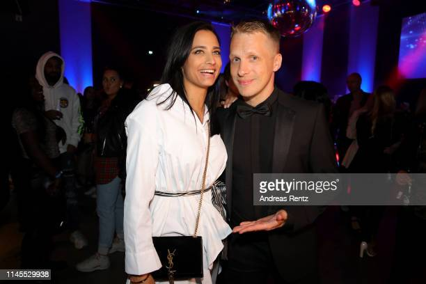 Oliver Pocher and Amira Aly attend the after work show during the season 16 finals of the tv competition show Deutschland sucht den Superstar at...