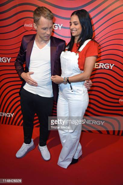 Oliver Pocher and Amira Aly attend the Coca Cola Energy Release Party at GAGA Club on June 6, 2019 in Hamburg, Germany.
