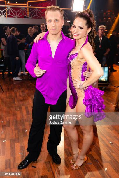 """Oliver Pocher and Christina Luft are seen during the 8th show of the 12th season of the television competition """"Let's Dance"""" on May 17, 2019 in..."""