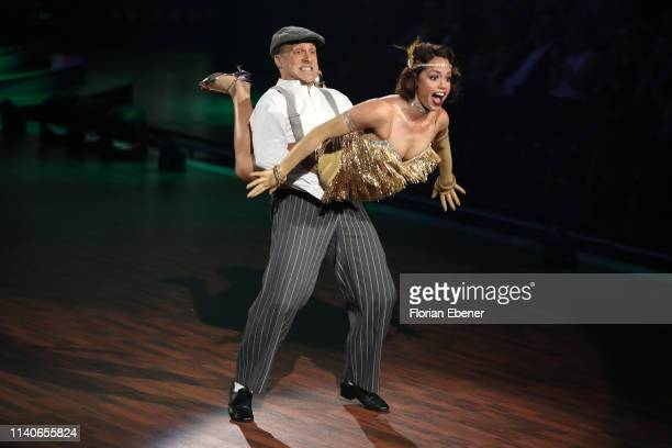 Oliver Pocher and Christina Luft perform during the 3rd show of the 12th season of the television competition Let's Dance on April 05 2019 in Cologne...