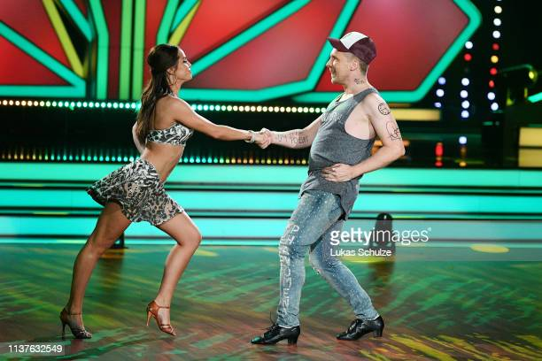 Oliver Pocher and Christina Luft perform on stage during the 1st show of the 12th season of the television competition Let's Dance on March 22 2019...