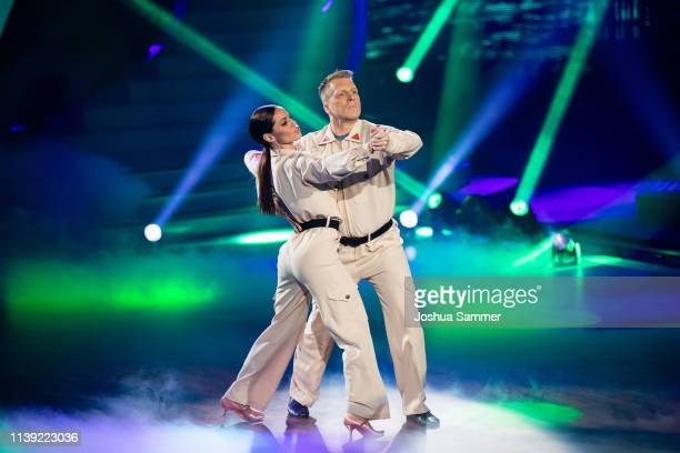 Oliver Pocher and Christina Luft perform on stage during the 2nd show of the 12th season of the television competition Let's Dance on March 29 2019...