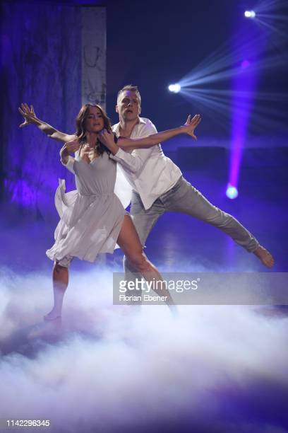 Oliver Pocher and Christina Luft perform on stage during the 4th show of the 12th season of the television competition Let's Dance on April 12 2019...