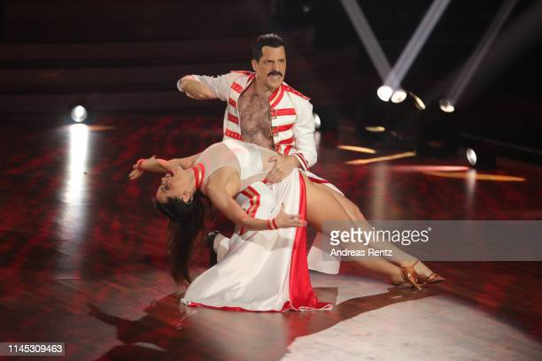 Oliver Pocher and Christina Luft perform on stage during the 5th show of the 12th season of the television competition Let's Dance on April 26 2019...