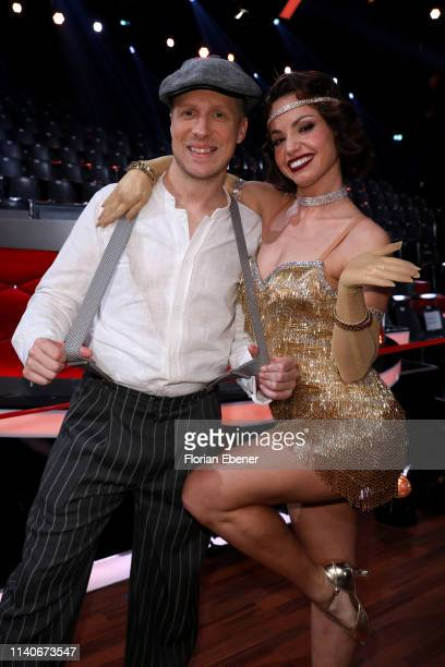 Oliver Pocher and Christina Luft poses after the 3rd show of the 12th season of the television competition Let's Dance on April 05 2019 in Cologne...