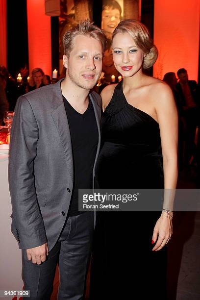 Oliver Pocher and girlfriend Sandy MeyerWoelden attend the aftershow party of 'Ein Herz fuer Kinder' Gala at Studio 20 at Adlershof on December 12...
