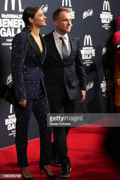 Oliver Pocher and his giirlfriend Amira Aly during the McDonald's Benefiz Gala benefit to McDonald's Kinderhilfe Stiftung at hotel Bayerischer Hof on...