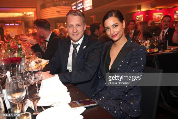 Oliver Pocher and his girlfriend Amira Aly during the McDonald's Benefiz Gala benefit to McDonald's Kinderhilfe Stiftung at hotel Bayerischer Hof on...