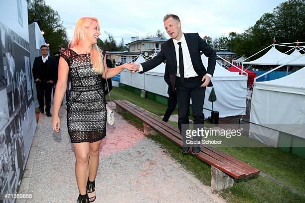 Oliver Pocher and his girlfriend Sabine Lisicki during the '100 Jahre Internationale Tennismeisterschaften von Bayern' Gala Evening on April 27 2015...