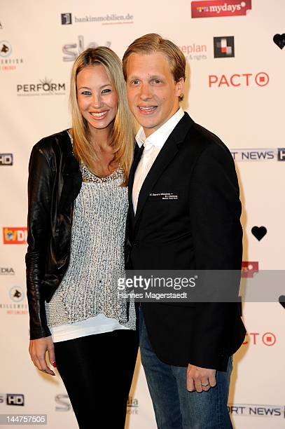 Oliver Pocher and his wife Alessandra Pocher attend the Sky Champion Night at HEART on May 18 2012 in Munich Germany