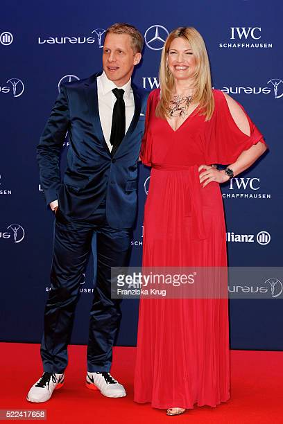 Oliver Pocher and Jessica Kastrop attend the Laureus World Sports Awards 2016 at the Messe Berlin on April 18 2016 in Berlin Germany