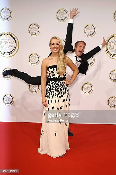 Oliver Pocher and Sabine Lisicki attend the McDonald's charity gala on November 13, 2015 in Cologne, Germany.
