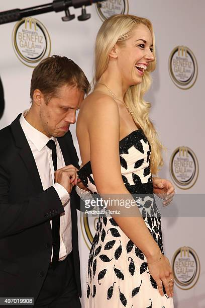 Oliver Pocher and Sabine Lisicki attend the McDonald's charity gala on November 13 2015 in Cologne Germany