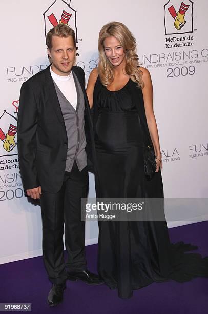 Oliver Pocher and Sandy MeyerWoelden attend the Mc Donalds Fundraising Gala at Hyatt Hotel on October 17 2009 in Berlin Germany