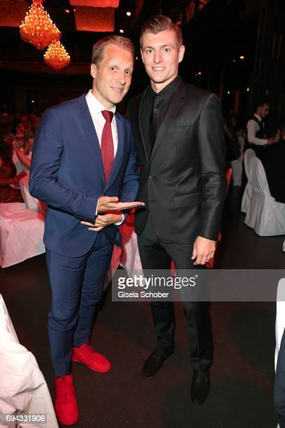 Oliver Pocher and Soccer player Toni Kroos during the Toni Kroos charity gala benefit to the Toni Kroos Foundation at 'The Palladium' on June 9 2017...