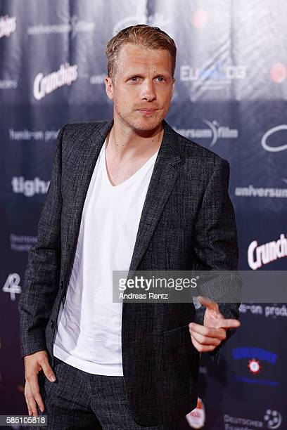 Oliver Pocher arrives for the premiere of the film 'Collide' at DRIVE IN Kino on August 1 2016 in Cologne Germany