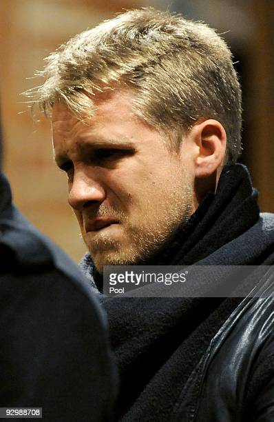 Oliver Pocher attends a church service for German national goalkeeper Robert Enke at the 'Marktkirche' on November 11 2009 in Hanover Germany Enke...