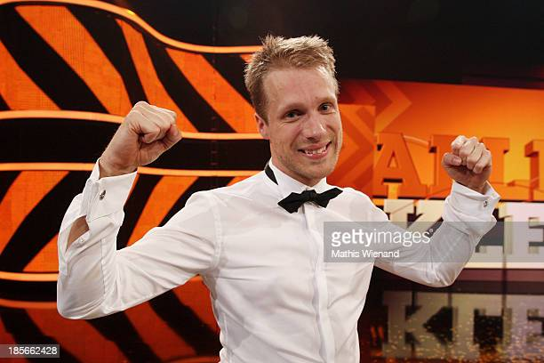 Oliver Pocher attends the TV Show 'Alle auf den Kleinen' with Boris Becker and Lilly Becker vs Oliver Pocher on October 22 2013 in Cologne Germany