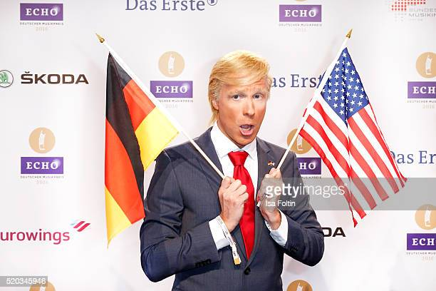 Oliver Pocher dressed as Donald Trump attends the Echo Award 2016 on April 07 2016 in Berlin Germany