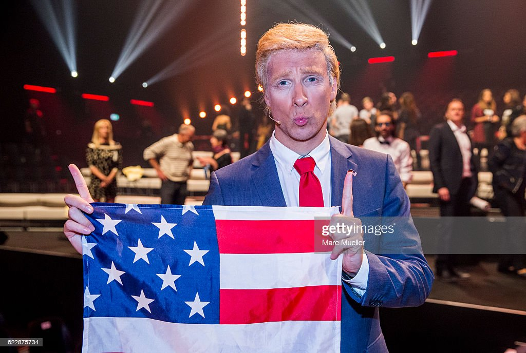 Oliver Pocher, dressed as Donald Trump, performs during the first live show of 'Deutschland tanzt' on November 12, 2016 in Munich, Germany. In the first show 16 celebrities compete for their states with different dancing performances. Only 12 will then compete in the semi finals that will be aired on November 19 on ProSieben.